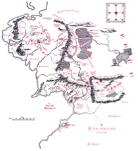 Map of Middle Earth: HMCO 1965